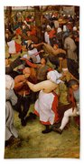 The Wedding Dance Beach Towel by Pieter the Elder Bruegel