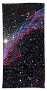 The Western Veil Nebula Beach Towel by Roth Ritter