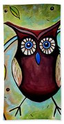 The Whimsical Owl Beach Towel