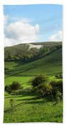 The White Horse Westbury England Beach Towel