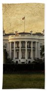 The White House  Beach Towel