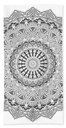 The White Mandala No. 3 Beach Towel