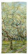 The White Orchard  Beach Towel