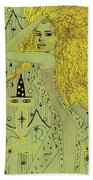 The White Witch Beach Towel