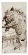 The Wild Boar Beach Towel