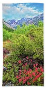 The Wildflowers Of Lundy Canyon Beach Towel