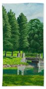 The Willow Path Beach Towel by Charlotte Blanchard