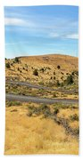 The Winding Road In Central Oregon Beach Towel