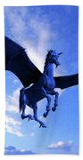 The Winged Horse Beach Towel