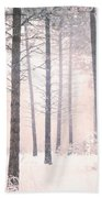 The Winter Forest Beach Towel