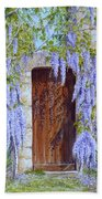 The Wisteria Gate Beach Towel