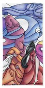 The Wizards Daughter Beach Towel