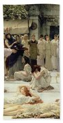 The Women Of Amphissa Beach Towel by Sir Lawrence Alma-Tadema
