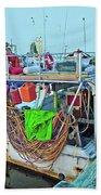 The Work Boat Beach Towel