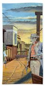 The World Of Classic Westerns Beach Towel
