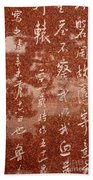 The Writings Of Lu Xun With Reflection Of Man Beach Towel