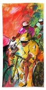 The Yellow River Of The Tour De France Beach Towel