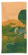 The Young Musician 2 Beach Towel