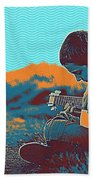 The Young Musician Beach Towel