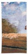 The Young Shepherdess Beach Towel