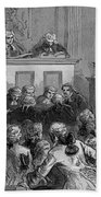 The Zenger Case, 1735 Beach Towel by Photo Researchers
