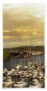 Thea Foss Waterway In Tacoma Washington Beach Towel