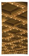 Theater Ceiling Marquee Lights Beach Towel