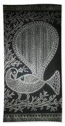 The Madhubani Peacock Beach Towel