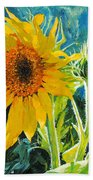 There's A New Bud In Town Beach Towel by Chris Steinken