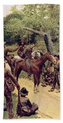 They Talked It Over With Me Sitting On The Horse Beach Towel by Howard Pyle