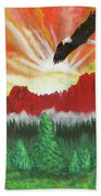 They That Wait Upon The Lord   Isa 40 31 Beach Towel