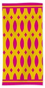 Thick Curved Trellis With Border In Mustard Beach Towel