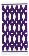 Thick Curved Trellis With Border In Purple Beach Towel