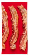 Thick Cut Bacon Served Up Beach Towel