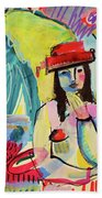 Thinking In Colors Beach Towel