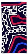 Thinking Red White And Blue Beach Towel