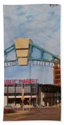 Third Ward Arch Over Public Market Beach Towel