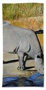 Thirsty Rhino Beach Towel