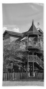 This Old House In Black And White Beach Towel