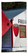 This Way For Strawberries Beach Towel