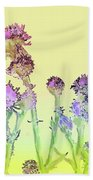 Thistles Under The Sun Beach Towel