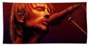 Thom Yorke Of Radiohead Beach Towel