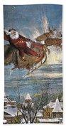 Thomas Nast: Santa Claus Beach Towel
