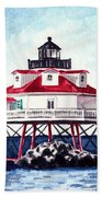 Thomas Point Shoal Lighthouse Annapolis Maryland Chesapeake Bay Light House Beach Towel