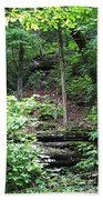 Thorncrown Chapel Setting In The Ozark Mountains Beach Towel