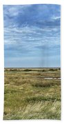 Thornham Marshes, Norfolk Beach Towel