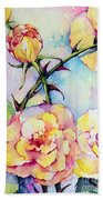 Thorns Have Roses Beach Towel