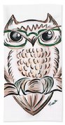 Owl- Those Spectacles  Beach Towel