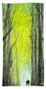 Though The Forest To The Light  Beach Towel