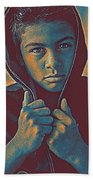 Thoughtful Youth 11 Beach Towel